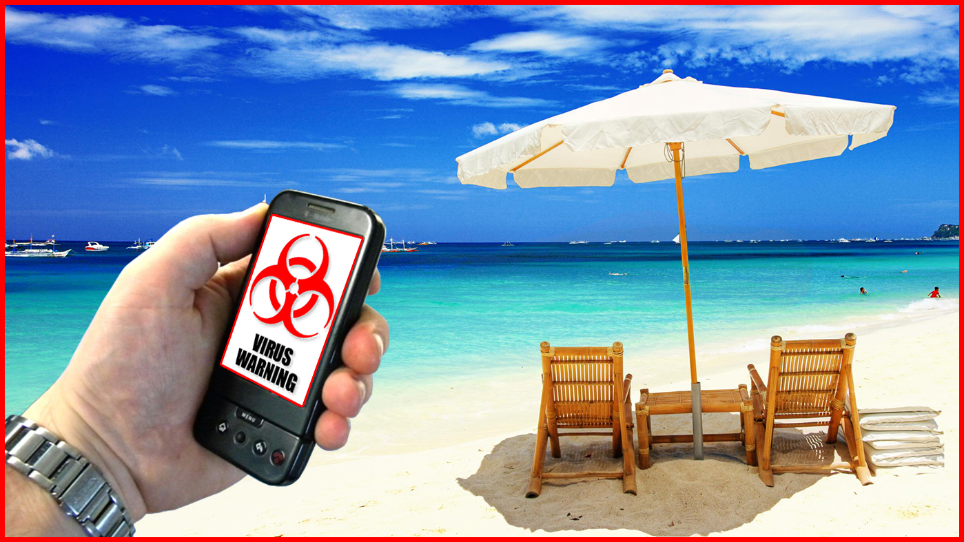 Beach Mobile Warning